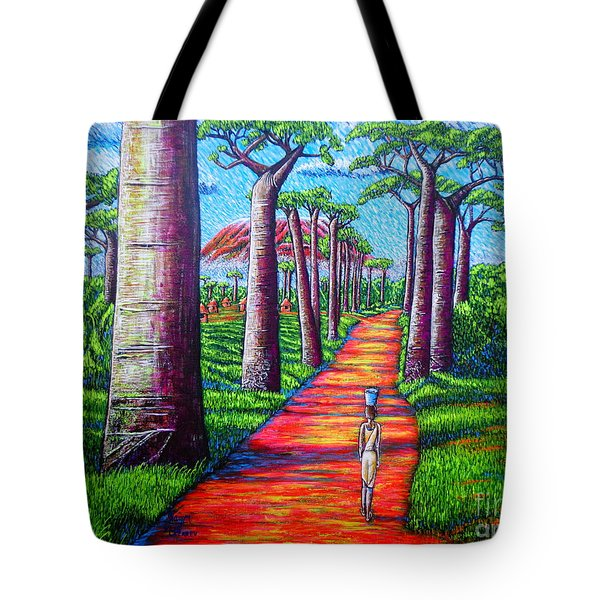 Tote Bag featuring the painting Baobab by Viktor Lazarev