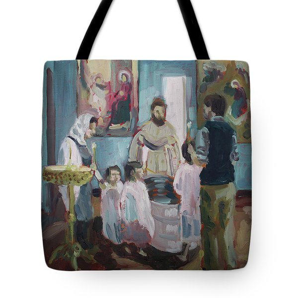 Baptism Tote Bag by Laura Wilson