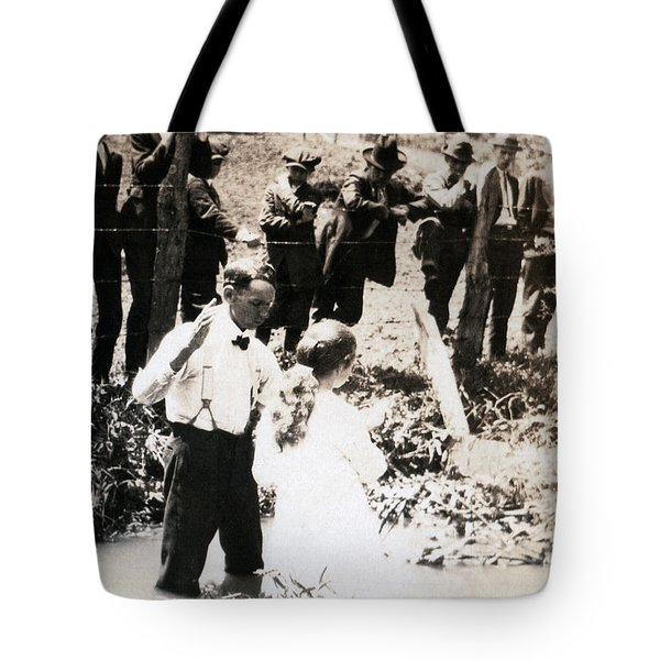 Tote Bag featuring the photograph Baptism by Rick Baldwin