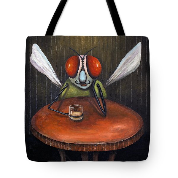 Bar Fly Tote Bag by Leah Saulnier The Painting Maniac