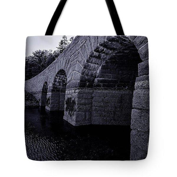 Bar Harbor Bridge Tote Bag