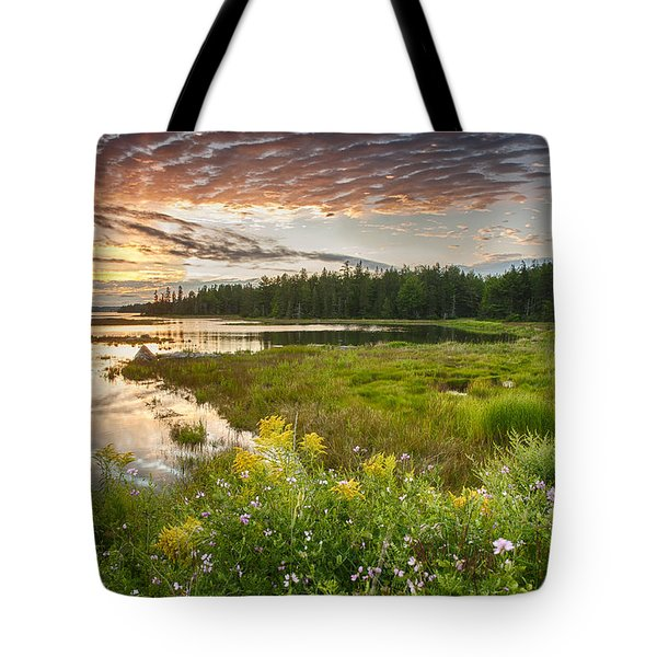 Bar Harbor Maine Sunset One Tote Bag by Kevin Blackburn