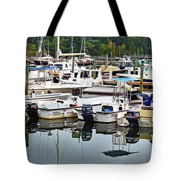 Bar Harbor, Maine No. 3 Tote Bag by Sandy Taylor