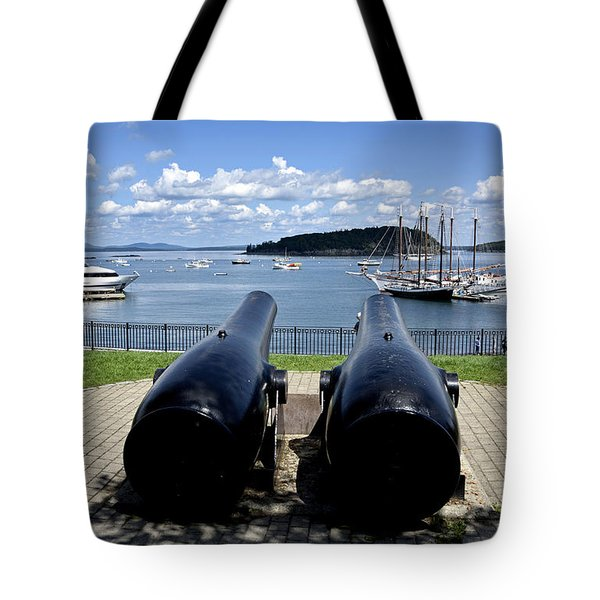 Bar Harbor - Maine - Canons At Agamont Park Tote Bag