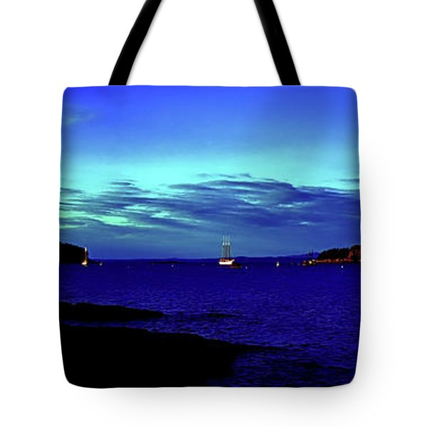 Tote Bag featuring the photograph Bar Harbor, Maine Sunset Cruse  by Tom Jelen