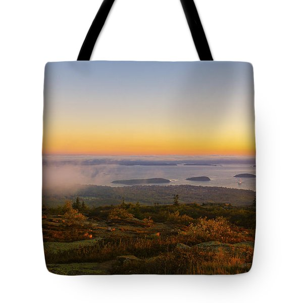 Bar Harbor Sunrise. Tote Bag