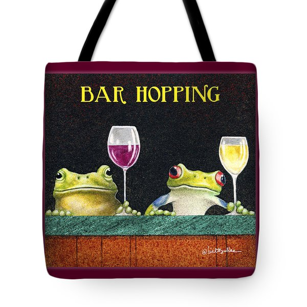 Bar Hopping. Tote Bag
