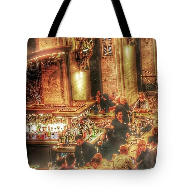 Tote Bag featuring the photograph Bar Scene by Marianne Dow
