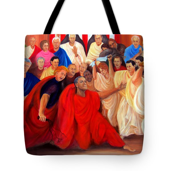 Barack Obama And Friends Tote Bag