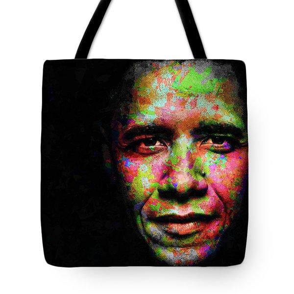 Barack Obama Tote Bag by Svelby Art
