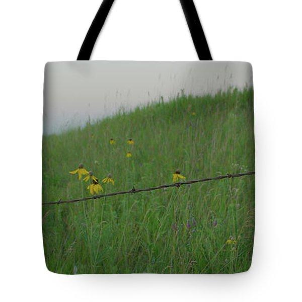 Barb Wire Prairie Tote Bag