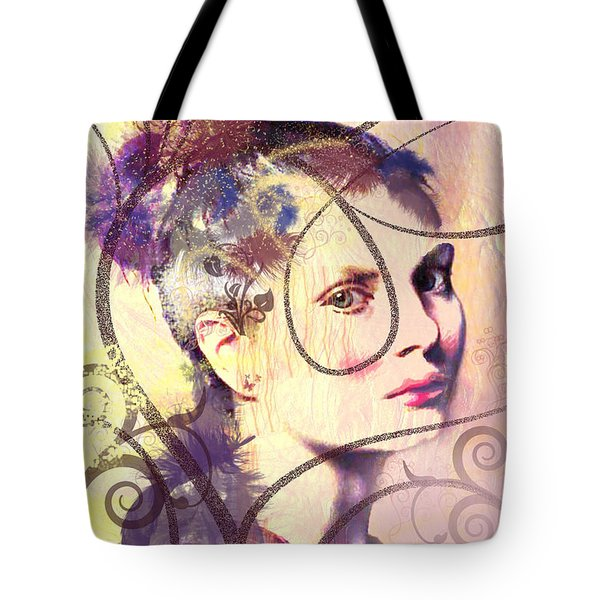 Barbara Blue Tote Bag by Kim Prowse
