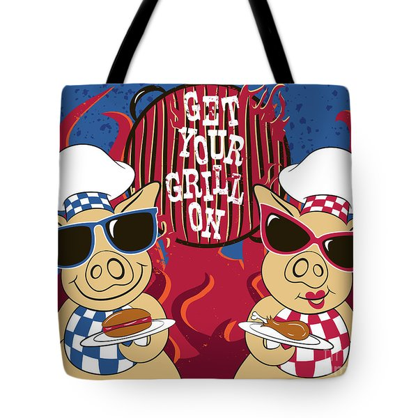 Barbecue Pigs Tote Bag