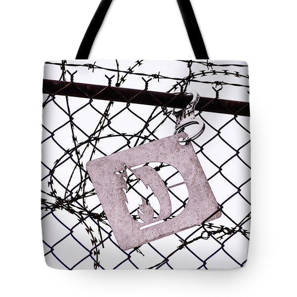 Barbed Wire And Hand Cuffs Tote Bag
