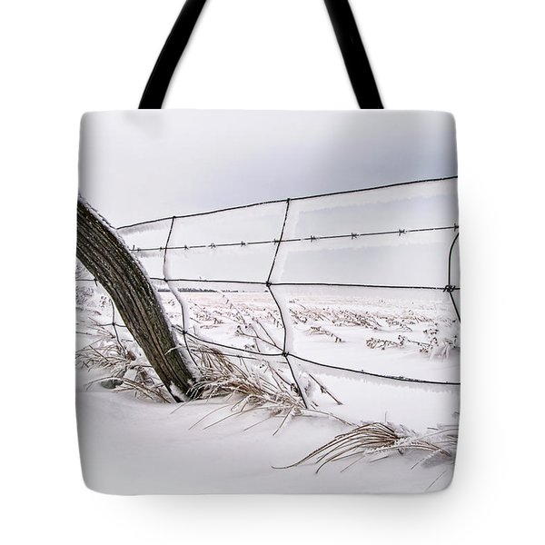 Barbed Wire And Hoar Frost Tote Bag