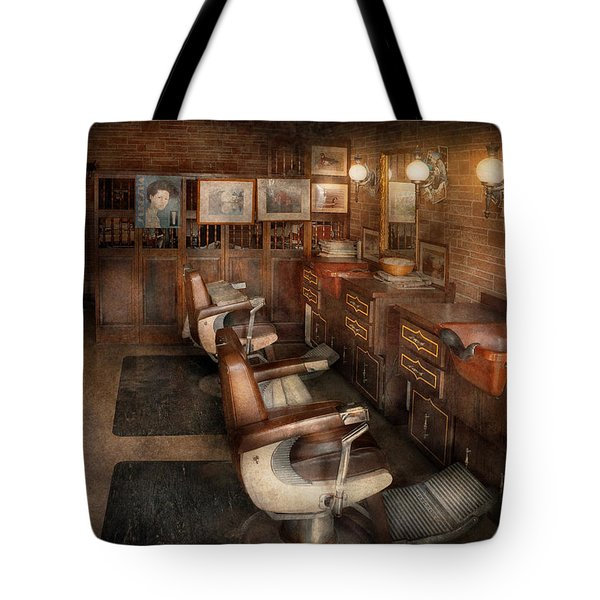 Barber - Clinton Nj - Clinton Barbershop  Tote Bag