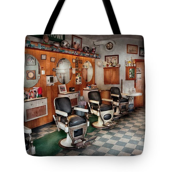 Barber - Frenchtown Barbers  Tote Bag