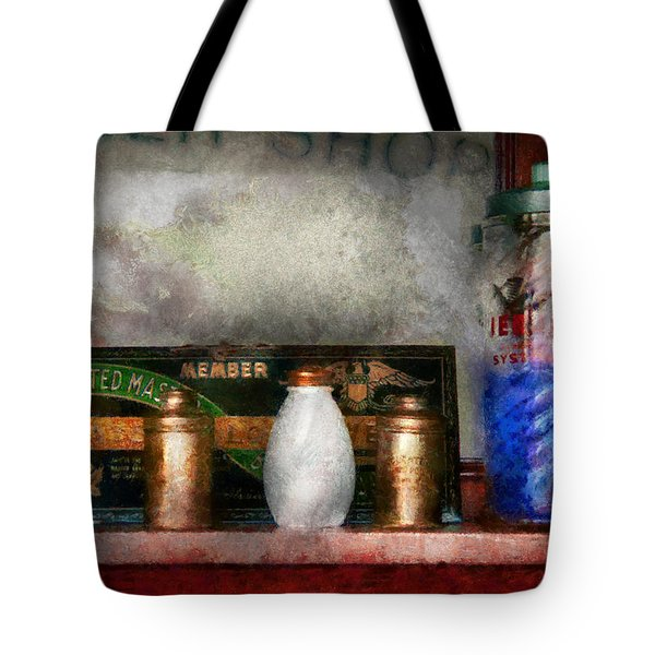 Barber - Things You Stare At  Tote Bag by Mike Savad