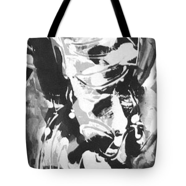 Tote Bag featuring the painting Barber by Carol Rashawnna Williams