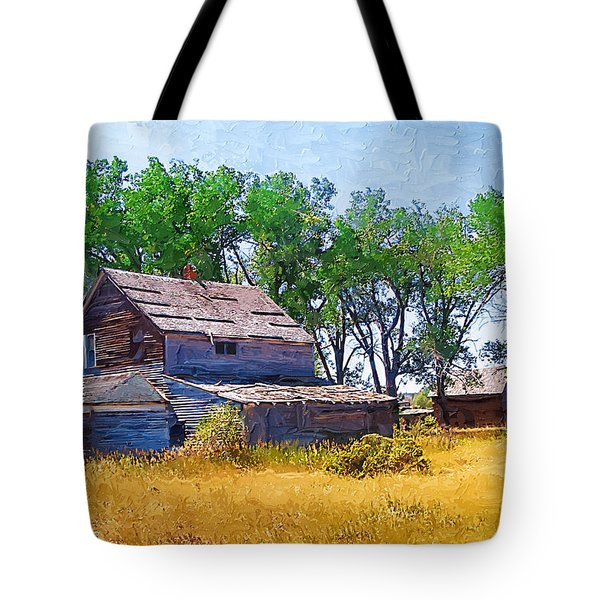 Tote Bag featuring the photograph Barber Homestead by Susan Kinney
