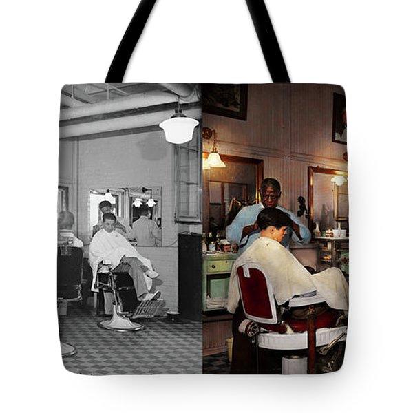 Barber - Senators-only Barbershop 1937 - Side By Side Tote Bag by Mike Savad