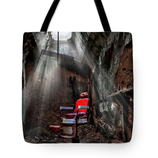 Barber Shop Tote Bag by Evelina Kremsdorf