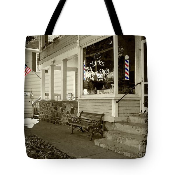 Clarks Barber Shop With Color Tote Bag