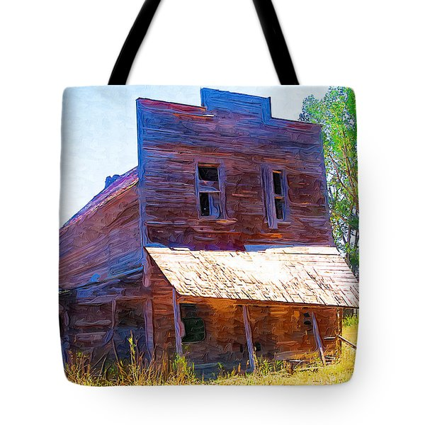 Tote Bag featuring the photograph Barber Store by Susan Kinney