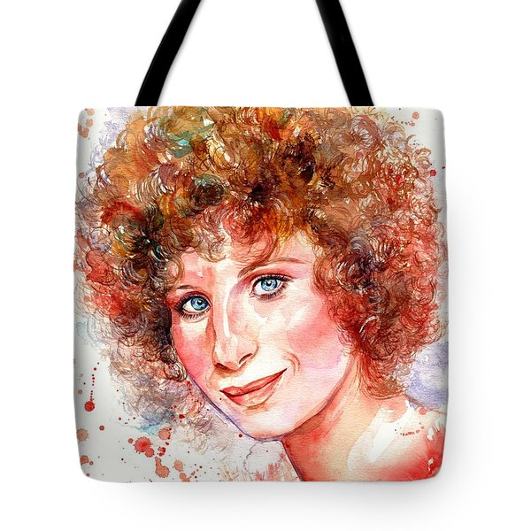 Barbra Streisand Portrait Tote Bag