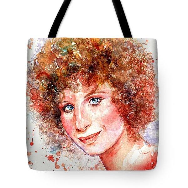 Barbra Streisand Portrait Tote Bag