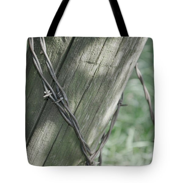 Barbwire Shadow Tote Bag
