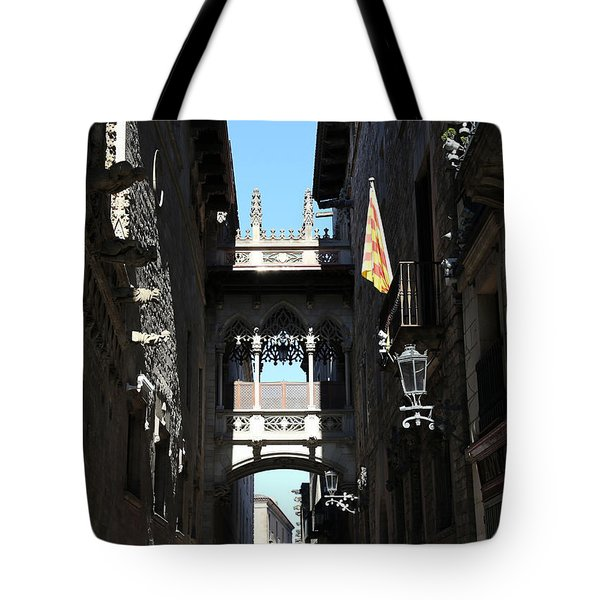 Tote Bag featuring the photograph Barcelona 1 by Andrew Fare