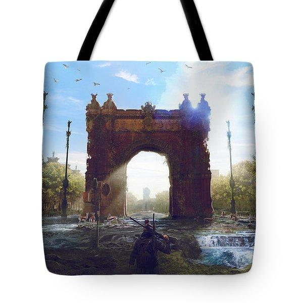 Barcelona Aftermath Arc De Triomf Tote Bag
