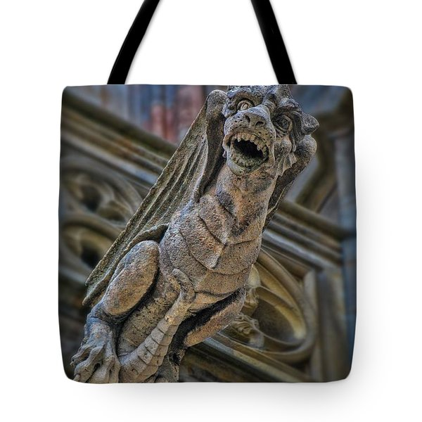 Barcelona Dragon Gargoyle Tote Bag by Henry Kowalski
