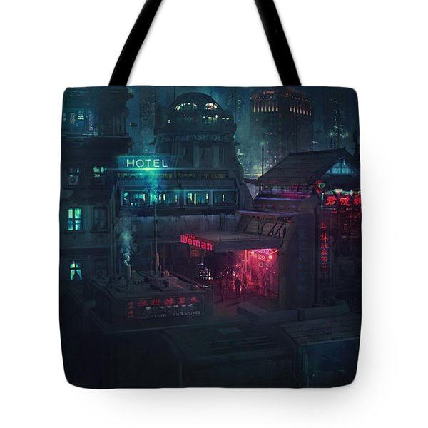 Barcelona Smoke And Neons Eixample Tote Bag
