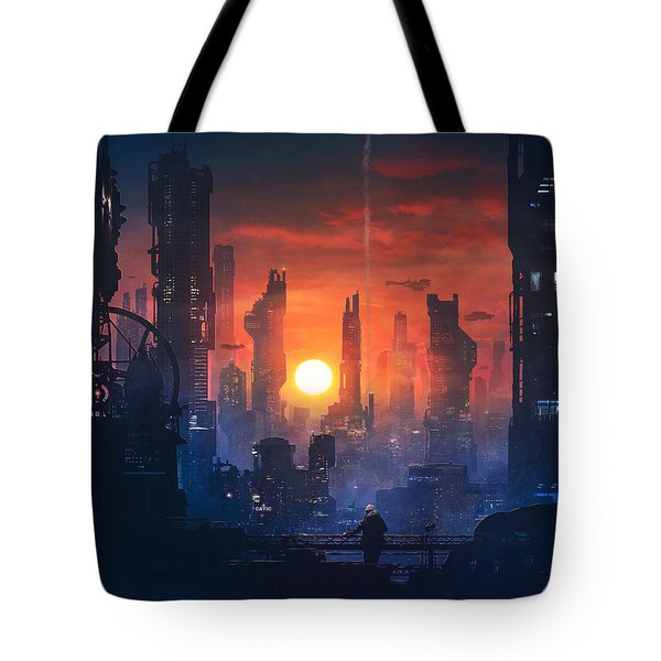 Barcelona Smoke And Neons The End Tote Bag