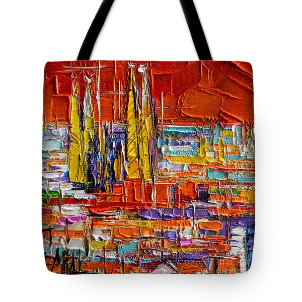 Barcelona View From Parc Guell - Abstract Miniature Tote Bag