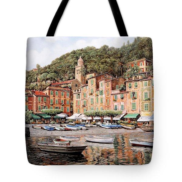 barche a Portofino Tote Bag