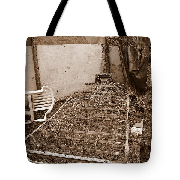 Tote Bag featuring the photograph Bare Bones Miners Camp by Marie Neder