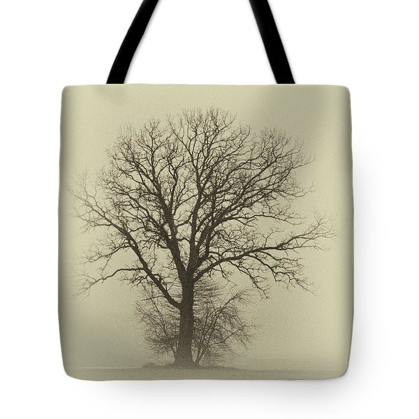Bare Tree In Fog- Nik Filter Tote Bag