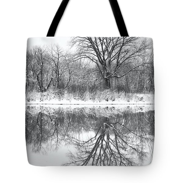 Tote Bag featuring the photograph Bare Trees by Darren White