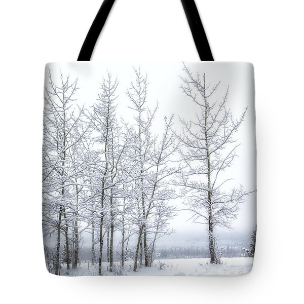 Bare Trees In Winter Tote Bag
