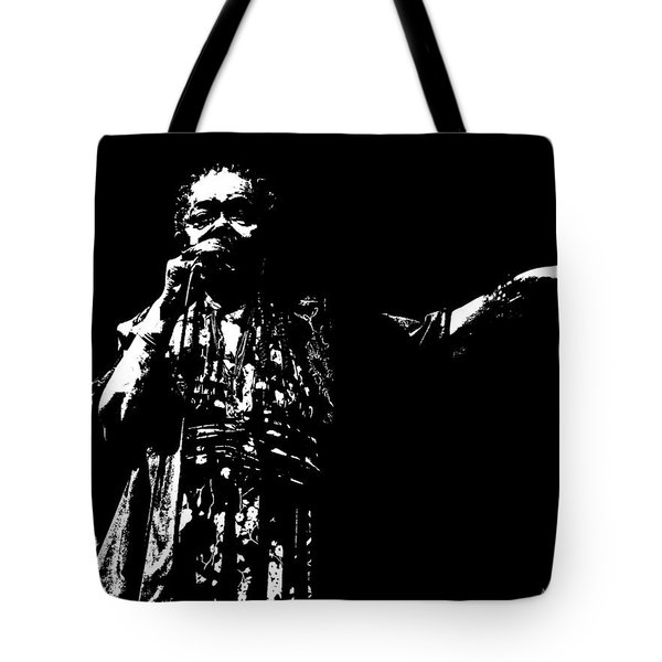 Tote Bag featuring the digital art Barefoot Diva - Cesaria Evora by Maciek Froncisz