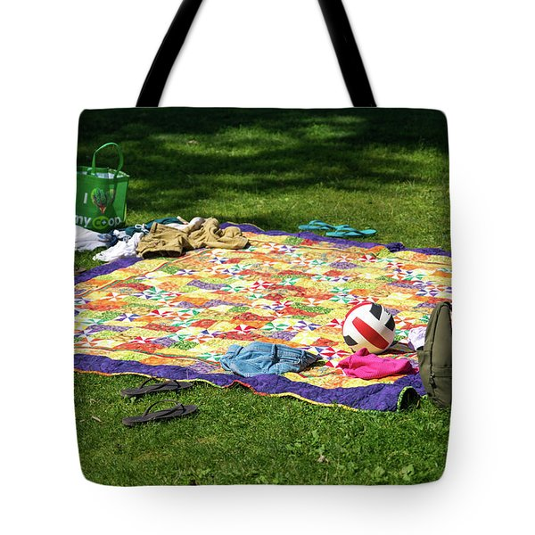 Barefoot In The Grass Tote Bag