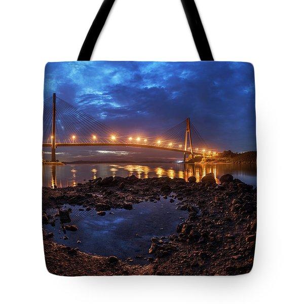Tote Bag featuring the photograph Barelang Bridge, Batam by Pradeep Raja Prints