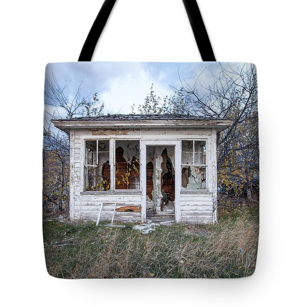 Tote Bag featuring the photograph Barely Standing by Fran Riley