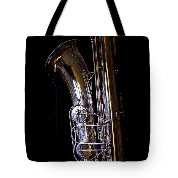 Tote Bag featuring the photograph Bari Sax by Jim Mathis