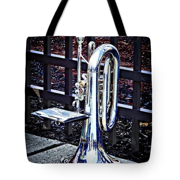 Baritone Horn Before Parade Tote Bag