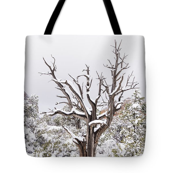 Bark And White Tote Bag
