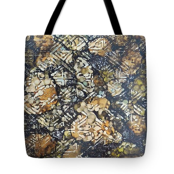 Tote Bag featuring the painting Bark Batik Ink #22 by Sarajane Helm